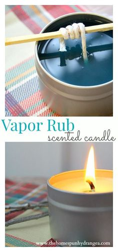 This homemade candle tutorial will show you How to Make Vapor Rub Scented Candles! Perfect for gift giving!