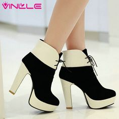 Find More Boots Information about VINLLE 2015 arrival Fashion Sexy Ankle Boots for Women Square Heels Shoes Platform Autumn Boots wedding snow shoes size 34 39,High Quality fashion male boots,China fashion fall boots Suppliers, Cheap fashion tips boots from CHINA VINLLE Co., Ltd on Aliexpress.com