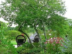 Peaceful Garden Sitting Area >> http://www.diynetwork.com/outdoors/cottage-style-landscapes-and-gardens/pictures/index.html?soc=pinterest