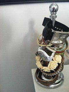 Paper towel holder for bracelet/watch storage!