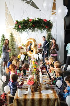 Colorful & Hip Woodland Birthday Party Brunch
