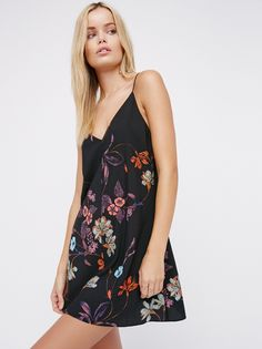 Nothing To Lose Slip | Pretty floral slip with a simple design and a super silky fabrication. V-neckline. Adjustable straps for an easy fit.