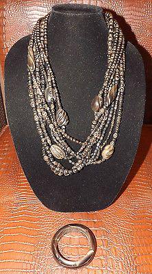OSCAR DE LA RENTA MULTI STRAND HORN NECKLACE & BRACELET - http://elegant.designerjewelrygalleria.com/oscar-de-la-renta/oscar-de-la-renta-multi-strand-horn-necklace-bracelet/