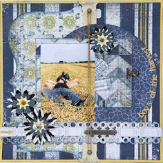 """""""Boys of the Harvest"""" Layout by Authentique Paper DT member Loes de Groot"""