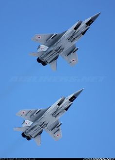 """A pair of Russian Air Force Mikoyan-Gurevich MiG-31BM """"Foxhounds"""" #RePin by AT Social Media Marketing - Pinterest Marketing Specialists ATSocialMedia.co.uk"""