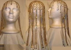 Studio 54 Rhinestone Gold with clear stones Hairpiece