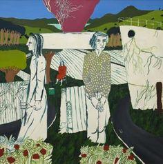 Jeffrey Harris - Figures in a landscape
