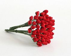 50 pcs Red Cherry blossom paper flowers by swettacraftsuplies