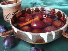 RETETE DE POST - CAIETUL CU RETETE Pickles, Serving Bowls, Plum, Sweets, Canning, Fruit, Tableware, Food, Home