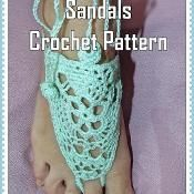 Mint Green Barefoot Thong Sandals  - via @Craftsy