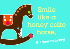 smile like a honey cake horse