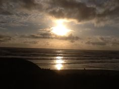 Beautiful sunset over Oregon Beach 5/2015
