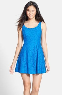 CeCe+by+Cynthia+Steffe+'Dustin'+Lace+Fit+&+Flare+Dress+available+at+#Nordstrom