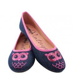 Sapatilha Jeans Coruja Rosa MOLECA (Ref: 4510) http://www.sapatilhashop.com.br/sapatilha-jeans-coruja-rosa-moleca.html