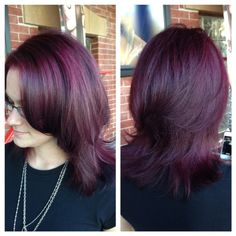 Color and haircut done by Shelly!! @_shellylynn #nofilter #kmscalifornia #depasquale #goldwell #sparkshairdesign www.sparkshairdesign.com www.facebook.com/sparkshairdesign #purplehair #hair #color #haircut