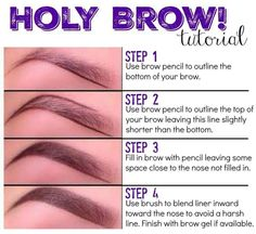 How to fill in your brows.