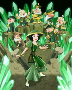 Snow White and the seven Earth Benders by Cartoon Cookie