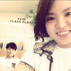 [PIC] 140627 Kim Minyoung Instagram Update: High School Love On filming with #인피니트 Sungyeol pic.twitter.com/lZTKw0SqpQ