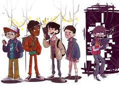 Stranger Things by on DeviantArt Stranger Things Quote, Stranger Things Steve, Stranger Things Aesthetic, Stranger Things Netflix, Stranger Things Season, Character Inspiration, Character Design, Stranger Danger, Will Byers