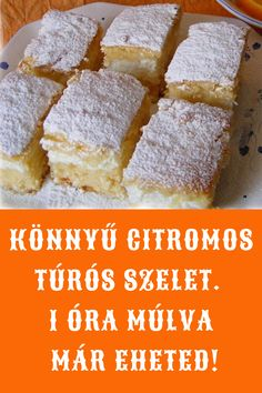 Hungarian Recipes, Sweet Desserts, Cornbread, Banana Bread, Deserts, Yummy Food, Cookies, Cake, Ethnic Recipes