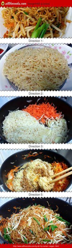Stir fry ramen....add chicken to it