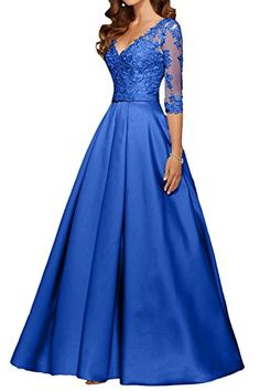 online shopping for Charm Bridal Long Satin V Neck Women Prom Evening Party Dresses With Sleeve 2017 from top store. See new offer for Charm Bridal Long Satin V Neck Women Prom Evening Party Dresses With Sleeve 2017 Party Dresses With Sleeves, Prom Dresses Blue, Modest Dresses, Pretty Dresses, Bridesmaid Dresses, Formal Dresses, Mom Dress, Designer Dresses, Ball Gowns