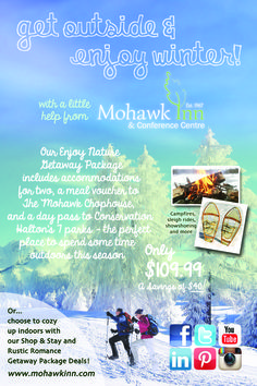 Get outside and Enjoy Nature this winter at Conservation Halton with our getaway packages!