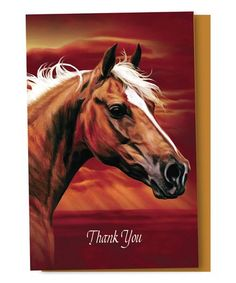 e8702056d Horse 'Thank You' Cards #zulily #zulilyfinds Horse Pictures, Your Cards,