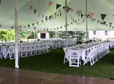 White Party Tents Photo Gallery- Jamestown Awning & Party Tents