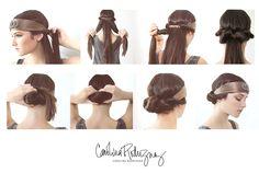 CAROLINA RODRIGUEZ signature Headband Updo    watch tutorial video here!