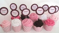 Lindos Cupcake de Toalhas  Acompanha oTag R$4,90