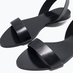 Image 7 of FLAT LEATHER SANDALS from Zara