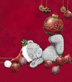 Tatty Teddy Amongst Decorations Me to You Bear Christmas Card Tatty Teddy, Merry Christmas In Heaven, Christmas Wishes, Christmas Images, Christmas Art, Teddy Bear Pictures, Illustration Noel, Blue Nose Friends, Cute Teddy Bears