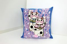 Cat pillow case baby bedding pillow throw by japanmomijidesigns
