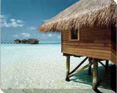 A hut on stilts in the water, doesn't get much better than this.