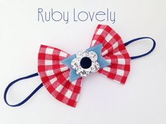Baby/Girls 4th of July Headband/Hair Clip Red Gingham Bow, Velvet Hair Bow, 4th of July Baby, Red White and Blue Patriotic Bows, Glitter Bow by RubyLovelyShop on Etsy https://www.etsy.com/listing/230764942/babygirls-4th-of-july-headbandhair-clip