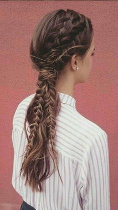 142 braided prom hair updos to finish your fab look – page 18 Box Braids Hairstyles, Boho Hairstyles, Elegant Hairstyles, Summer Hairstyles, Wedding Hairstyles, Hairstyles 2018, Woman Hairstyles, Hairstyle Ideas, Curly Hair Styles
