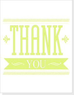Vintage Type Thank You Card  (free download)