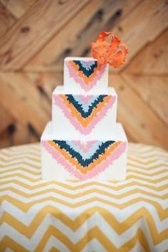 Inspire Wedding   Travellers   Cute Tribal Wedding Cake