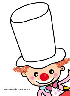 carnaval: kleef confetti in de hoed Carnival Activities, Carnival Crafts, Carnival Decorations, Activities For Kids, Le Clown, Circus Clown, Circus Theme, Theme Carnaval, Clown Crafts