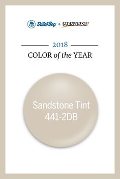 Add A Touch Of Modernity And Minimalism With Our 2018 Color The Year Sandstone Neutral Paint