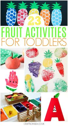 Looking for fun fruit activities for toddlers? Look no further as we have all the ideas you need with cute crafts, scissor skill activities, art projects, games, sensory play and tons more inspiration. #kidsactivities #kidscraft #preschool #toddler