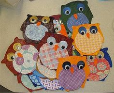 Fall art project... gotta find a book about owls so we can do this ;)