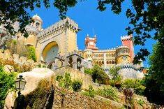 Sintra Portugal, can't wait to go back Sintra Portugal, Spain And Portugal, Places To Travel, Places To See, Places Ive Been, Pena Palace, Sea Activities, Hotels, Future Travel