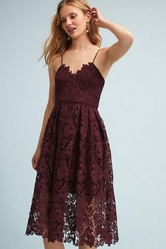 a52ee20ff0bd1 Slide View: 1: Renata Lace Dress Whimsical Dress, Anthropologie Clothing,  Holiday Dresses