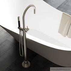 Buddy Floor Mount Bath Filler With Handshower - Bathroom Tapware - Bathroom
