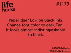 1000 Life Hacks - out of black ink on your color printer?