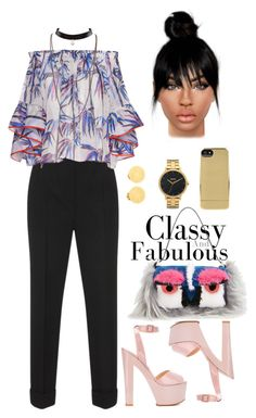 """b pants"" by fashion-is-my-passion-14 ❤ liked on Polyvore featuring Dolce&Gabbana, Emilio Pucci, Giuseppe Zanotti, Nixon, Incase, Hermès and Fendi"