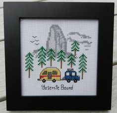 Yosemite+Bound++Counted+Cross+Stitch+PATTERN+by+CampCrossStitch,+$5.00