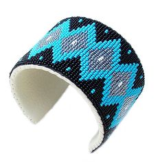 Native American Seed Bead Patterns | Native American Indian Beaded Bracelet